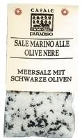 Meersalz mit schwarzen Oliven