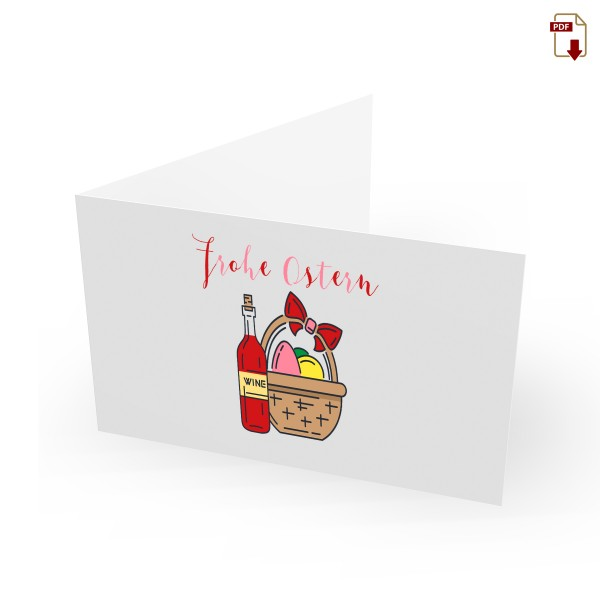 Geschenkgutschein Ostern zum Drucken