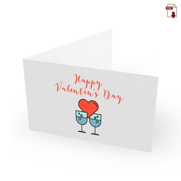 Geschenkgutschein Valentinstag zum Drucken