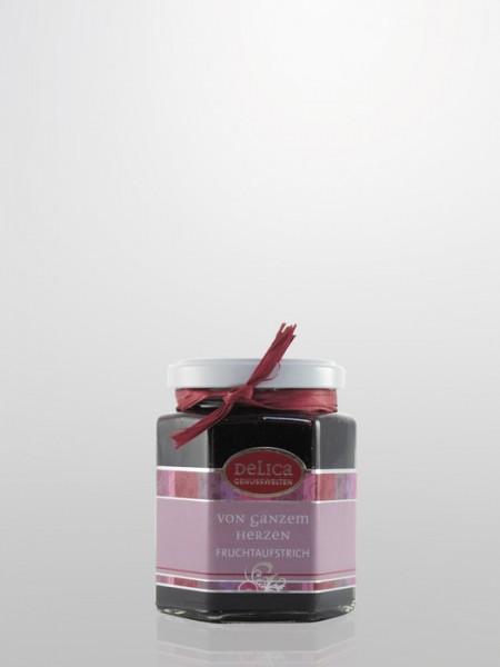 Heidelbeeren Fruchtaufstrich mit Vanille Sahne